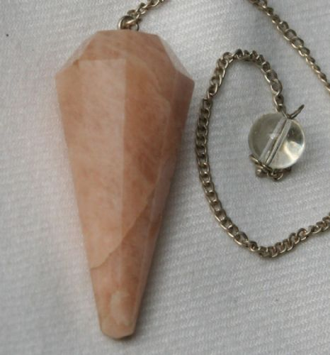 Moonstone Crystal Gemstone Dowsing Pendulum
